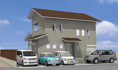 唐津市【t様邸】4寸以上の勾配屋根と外部収納・中2階を加えた動線を考慮した家